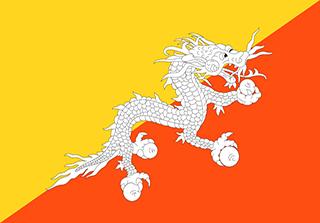 Bandera de Reino de Bután