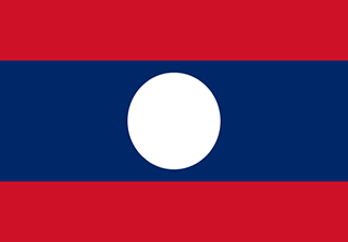 Bandera de República Democrática Popular de Laos