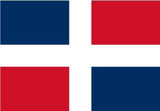 Bandera de Republica Dominicana sin escudo