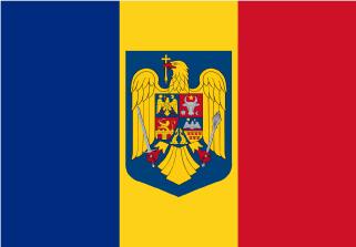 Bandera de Rumania con escudo