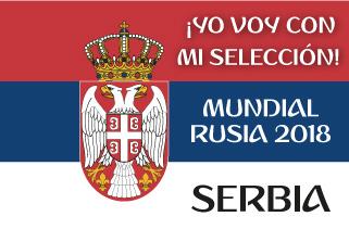 Bandera de Serbia Mundial 2018