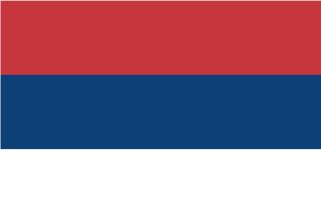 Bandera de Serbia sin escudo