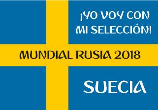 Bandera de Suecia Mundial 2018