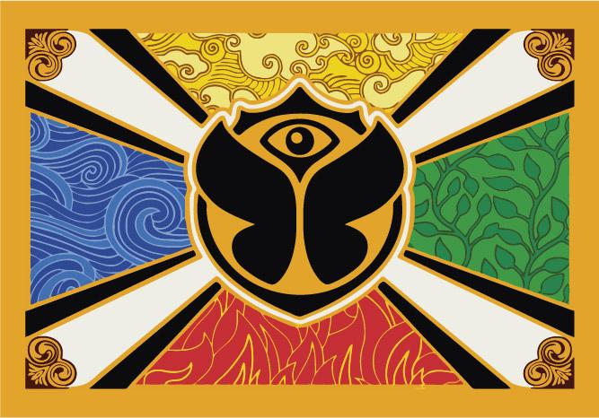 Bandera de Tomorrowland Personalizada