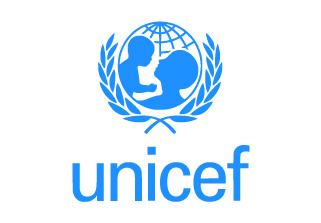 Bandera de UNICEF Fondo Blanco