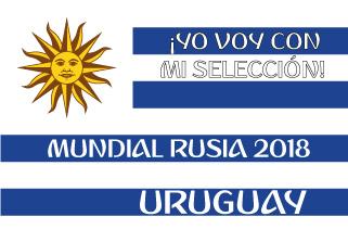 Bandera de Uruguay Mundial 2018